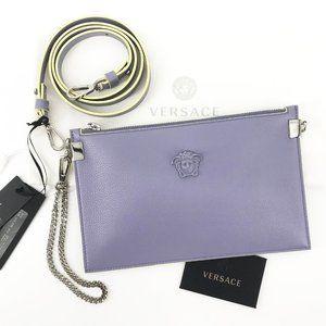 HP🌸VERSACE Medusa Lilac Pochette Clutch Crossbody